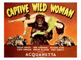 Captive Wild Woman, Ray 'Crash' Corrigan (As the Gorilla) Carrying Acquanetta, 1943 Photo