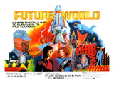 Futureworld, Center, From Left: Peter Fonda, Blythe Danner, 1976 Print