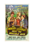 Abbott And Costello Meet the Invisible Man, Bud Abbott, Adele Jergens, Lou Costello, 1951 Plakaty