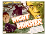 Night Monster, Bela Lugosi, 1942 Print