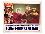 Son of Frankenstein, Bela Lugosi, Boris Karloff, 1939 Photo