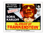 The Bride of Frankenstein, Top: Boris Karloff, Bottom: Elsa Lanchester, 1935 Posters