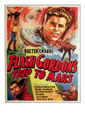 Flash Gordon's Trip to Mars, Top: Buster Crabbe, Bottom Left: Charles Middleton, 1938 Posters