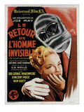 The Invisible Man Returns (AKA Le Retour De L'Homme Invisible), 1940 Plakater
