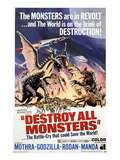 Destroy All Monsters, 1968 Print