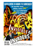 Invisible Invaders, Bottom From Left: Jean Byron, Robert Hutton, Philip Tonge, 1959 Photo