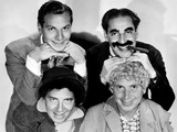 The Marx Brothers, Top Zeppo Marx, Groucho Marx, Bottom Chico Marx, Harpo Marx, ca. Early 1930s Photo