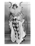 Claudette Colbert in Pierette Costume, 1932 Print