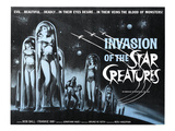 Invasion of the Star Creatures, Jonathan Haze, 1962 Poster