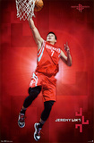 Jeremy Lin - Houston Rockets Basketball Poster Prints