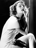Katharine Hepburn Smoking, 1930s. Print
