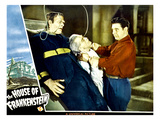 House of Frankenstein, From Left: Glenn Strange, Boris Karloff, Lon Chaney Jr., 1944 Prints