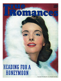 True Romances Vintage Magazine - January 1944 - Natural color photography Giclee Print by  Hesse Patston Studios