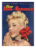 True Love and Romance Vintage Magazine - April 1948 - Kodachrome Art by Charles Kellaway