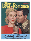 True Love Romance Vintage Magazine - January 1944 - Kodachrome Giclee Print by L. Willinger Schostal