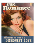 True Romance Vintage Magazine - April 1940 - Cover - Ann Sheridan, Warner Brothers Giclee Print by George Hurrell