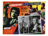 The Curse of Frankenstein, Peter Cushing (Inset), Christopher Lee, Hazel Court, 1957 Posters