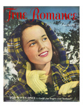 True Romance Vintage Magazine - December 1947 - Cover- Ektachrome Giclee Print by Paul D&#39;Ome