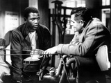 Blackboard Jungle, Sidney Poitier, Glenn Ford, 1955 Photo