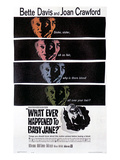 What Ever Happened to Baby Jane, Bette Davis, Joan Crawford, 1962 Poster