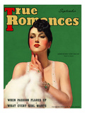 True Romances Vintage Magazine - September 1937 - Louise Hovick (Gypsy Rose Lee) Painted Giclee Print by Victor Tchetchet