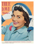 True Love Stories Vintage Magazine - April 1950 - Ektachrome Giclee Print by Irving C. Christenson