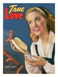 True Love Romance Vintage Magazine - September 1947 - Kodachrome Reproduction procédé giclée par Charles Kellaway