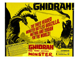 Ghidrah, the Three-Headed Monster, (AKA San Daikaiju: Chikyu Saidai No Kessen), 1964 Posters