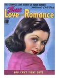 True Love and Romance Vintage Magazine - September 1939 - Joan Bennett Giclee Print by Robert Reid