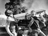 Red River, Montgomery Clift, John Wayne, 1948 Photo