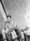 Errol Flynn Relaxing on His Yacht, October 20, 1937 Photo