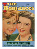 True Romances Vintage Magazine - July 1940 - Cover: Mickey Rooney and Judy Garland MGM Giclee Print by  Macfadden Studios