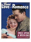 True Love and Romance Vintage Magazine - June 1944 - Natural color Photograph Poster by James Viles