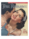 True Romance Vintage Magazine - July 1949 - Cover - Ektachrome Giclee Print by Paul D&#39;Ome