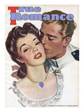 True Romances Vintage Magazine - May 1945 Painting Art by Darius Mede