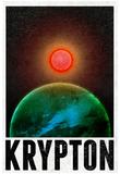 Krypton Retro Travel Poster - Resim