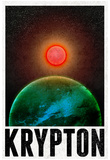 Krypton Retro Travel Poster Print