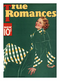 True Romances Vintage Magazine - November 1934 - Painted Giclee Print by Georgia Warren
