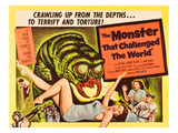 The Monster That Challenged the World, Audrey Dalton, Tim Holt, 1958 Posters