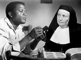 Lilies of the Field, Sidney Poitier, Lilia Skala, 1963 Photo