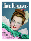 True Romances Vintage Magazine - February 1947 - Hazel McFerrin model Giclee Print