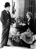 City Lights, Charlie Chaplin, Virginia Cherrill, 1931 Photo