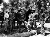 Ride Lonesome, Karen Steele, James Best, Randolph Scott, Pernell Roberts, James Coburn, 1959 Photo
