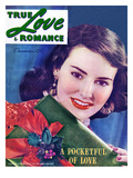 "True Love & Romance Vintage Magazine - December 1946 - ""Pocketful of Love"" Giclee Print by Macfadden Studios"