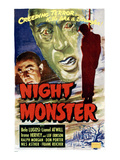 Night Monster, Left: Bela Lugosi, Posters