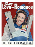 True Love and Romance Vintage Magazine - January 1943 - Cover Prints by Robert Keene