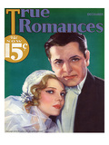 True Romances Vintage Magazine - December 1932 - Painted Giclee Print by George Wren