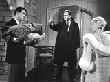 Pillow Talk, Rock Hudson, Tony Randall, Doris Day, 1959 Print
