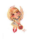 Lil Angel Premium Giclee Print by Natasha Wescoat