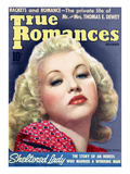 True Romances Vintage Magazine - November 1939 - Bette Grable Print by  Macfadden